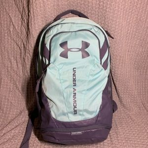 large mint green and grey under amour backpack